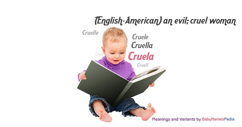 Meaning of the name Cruela