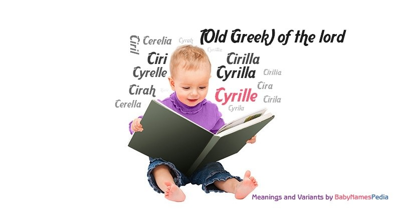 Meaning of the name Cyrille