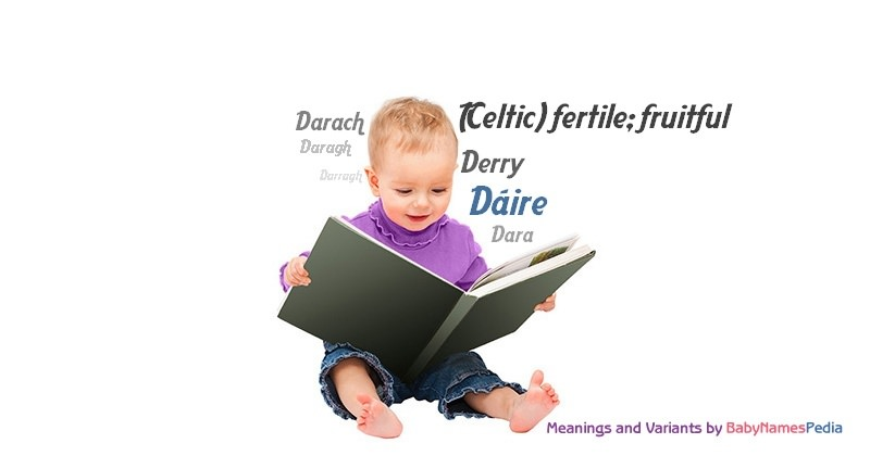 Meaning of the name Dáire