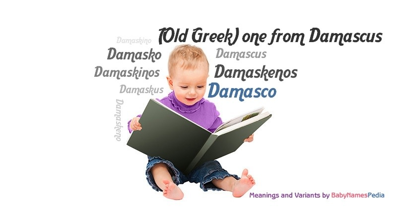 Meaning of the name Damasco