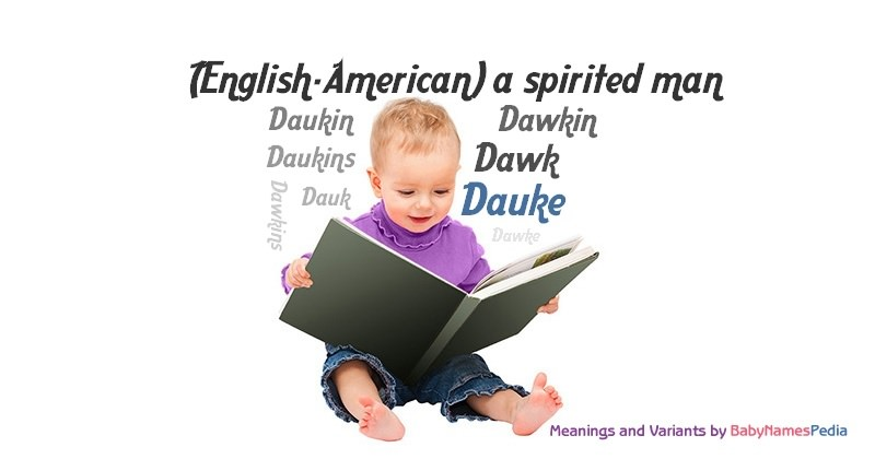 Meaning of the name Dauke