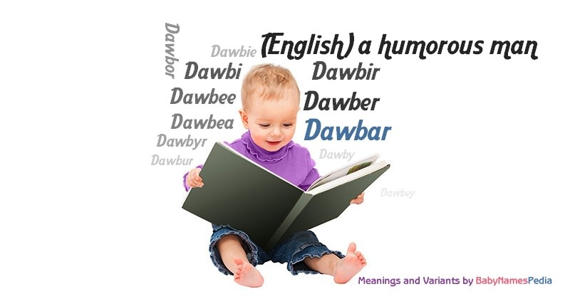 Meaning of the name Dawbar