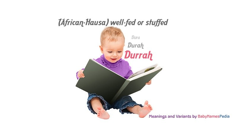 Meaning of the name Durrah