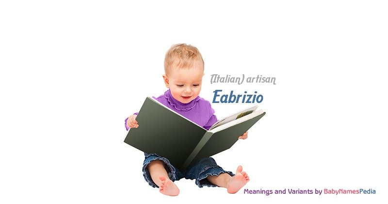 Meaning of the name Eabrizio