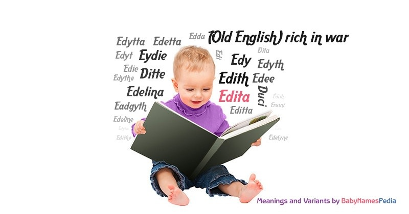 Meaning of the name Edita