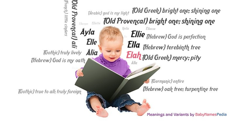 Meaning of the name Elah