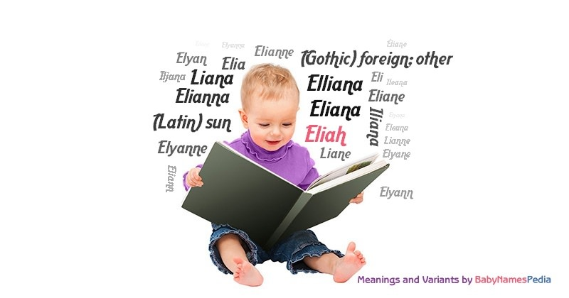 Meaning of the name Eliah