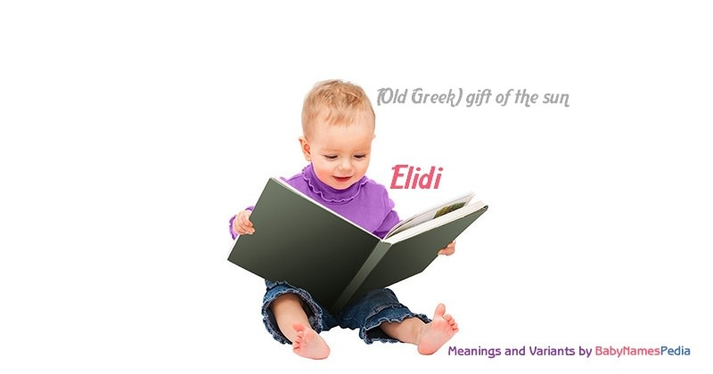 Meaning of the name Elidi
