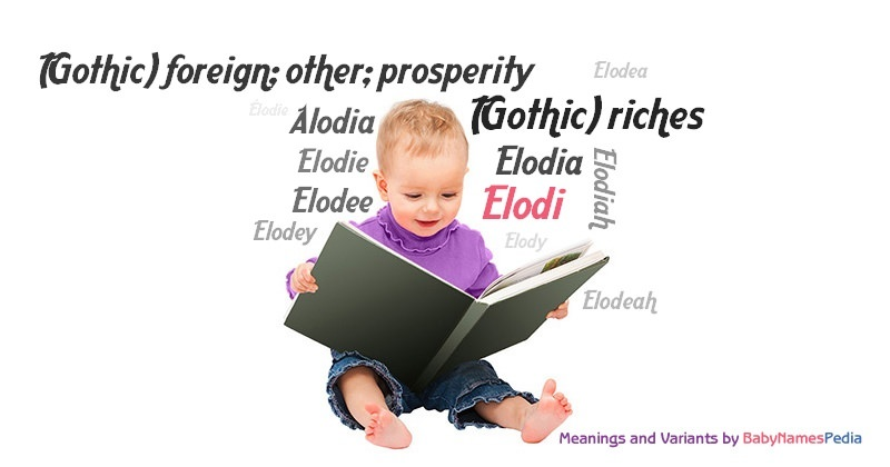 Meaning of the name Elodi