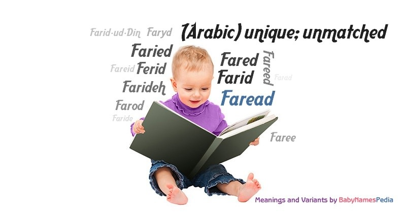 Meaning of the name Faread