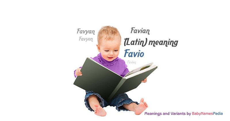 Meaning of the name Favio