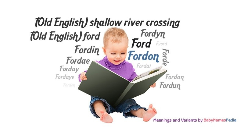 Meaning of the name Fordon