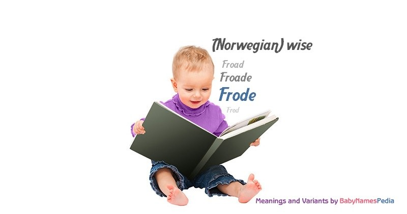Meaning of the name Frode