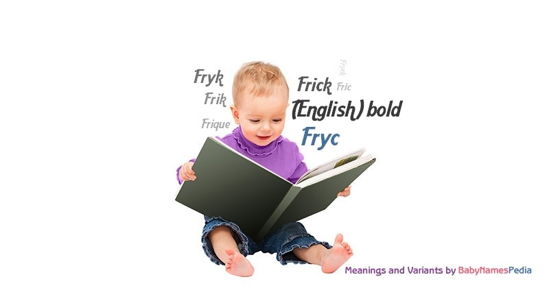 Meaning of the name Fryc