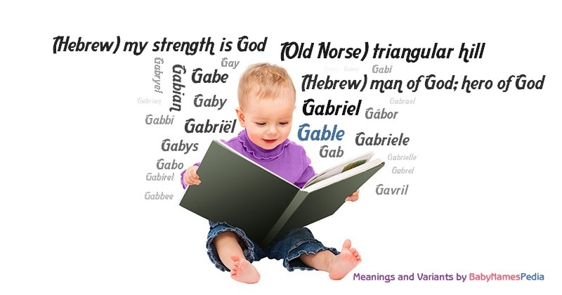 Meaning of the name Gable