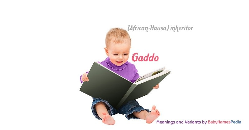 Meaning of the name Gaddo