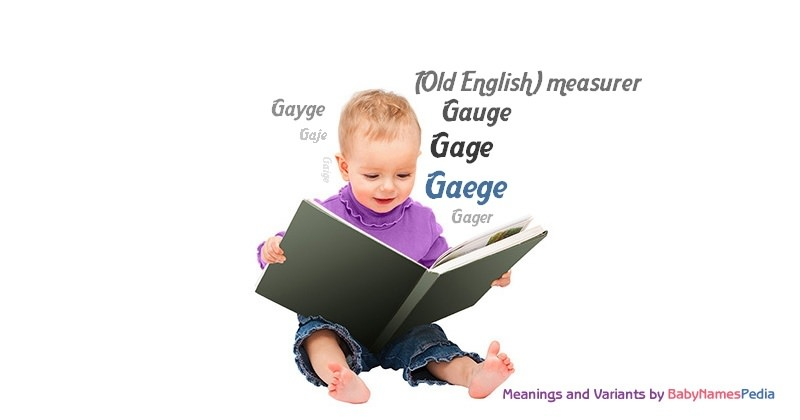 Meaning of the name Gaege