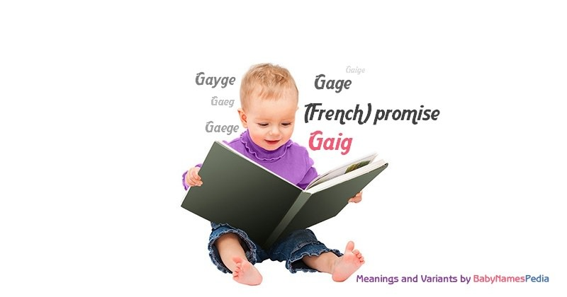 Meaning of the name Gaig