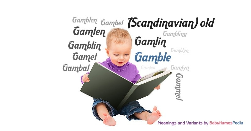 Meaning of the name Gamble