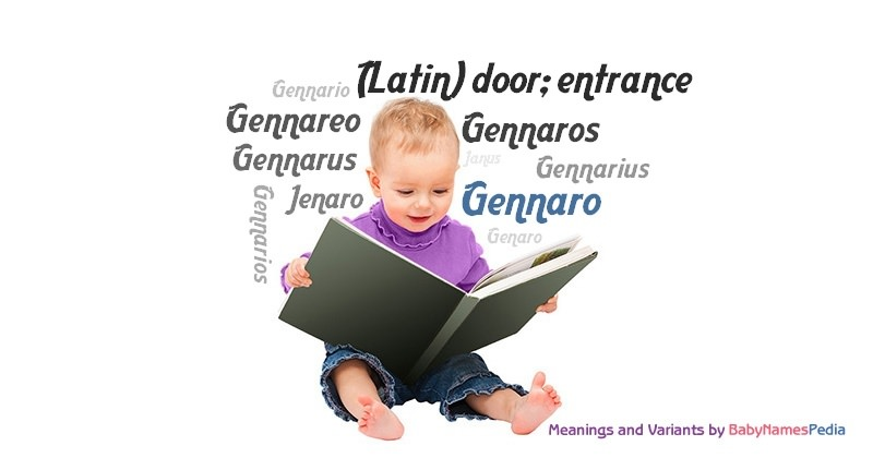 Meaning of the name Gennaro