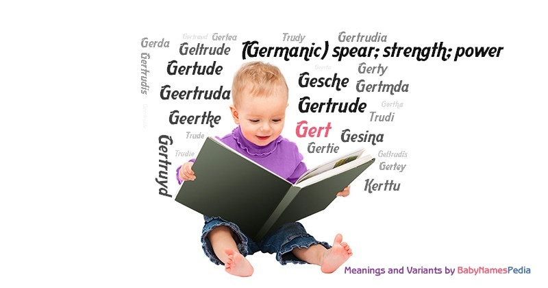 Meaning of the name Gert