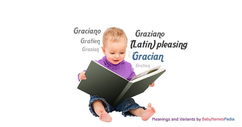 Meaning of the name Gracian