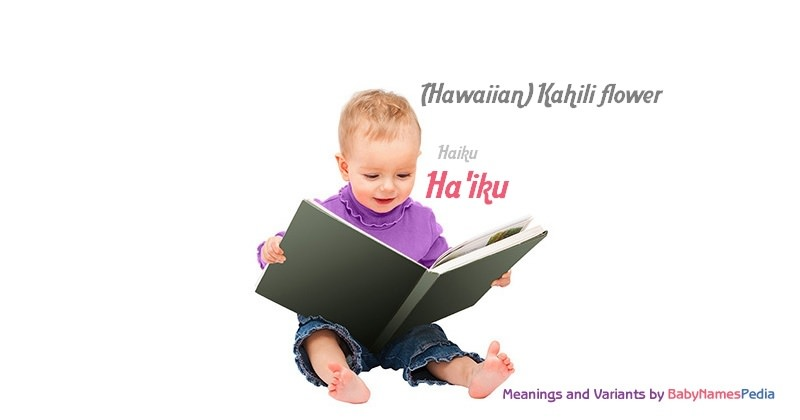 Meaning of the name Ha'iku