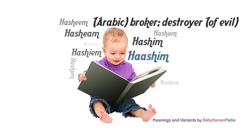 Meaning of the name Haashim