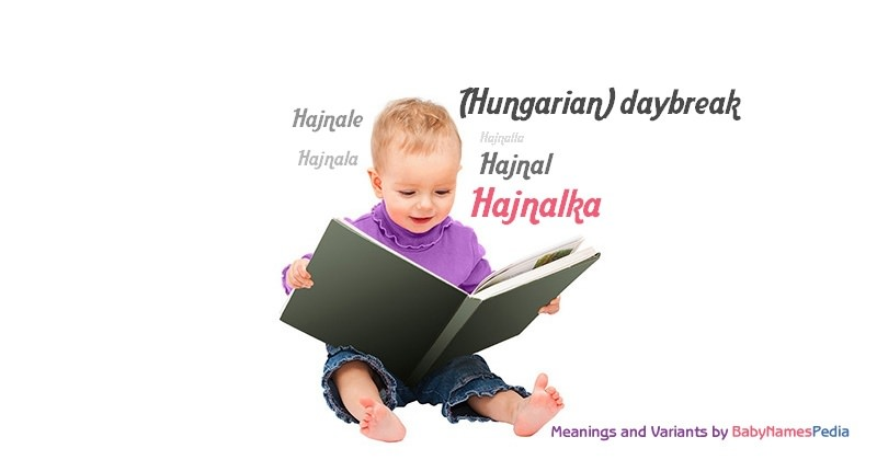 Meaning of the name Hajnalka