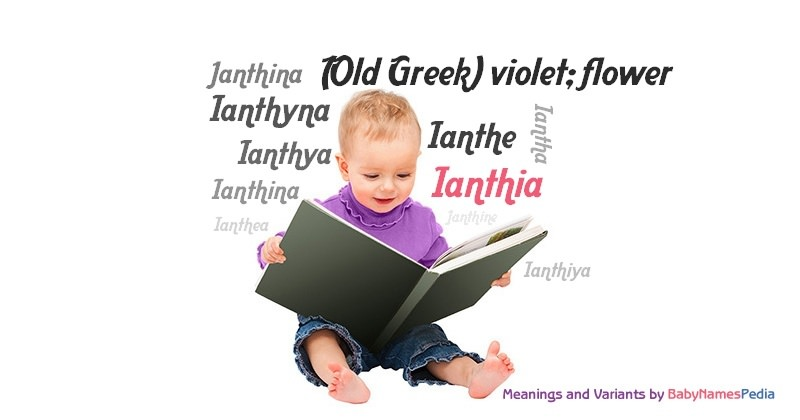 Meaning of the name Ianthia