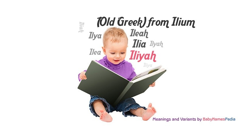 Meaning of the name Iliyah