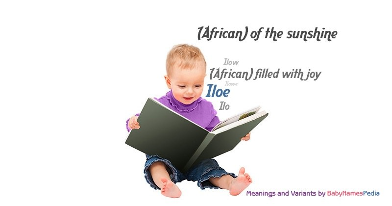 Meaning of the name Iloe