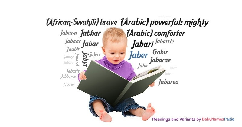 Meaning of the name Jaber