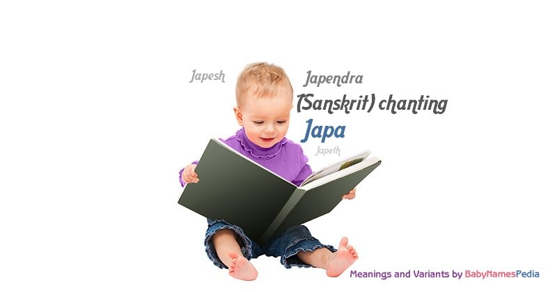 Meaning of the name Japa