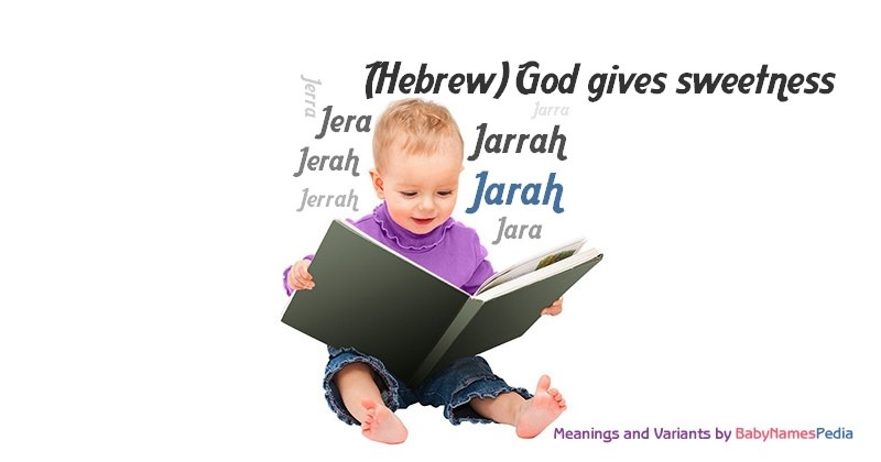 Meaning of the name Jarah