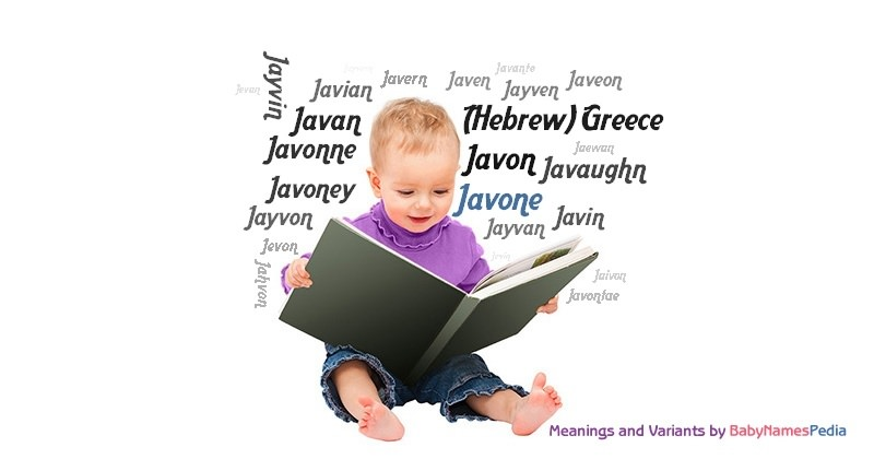 Meaning of the name Javone