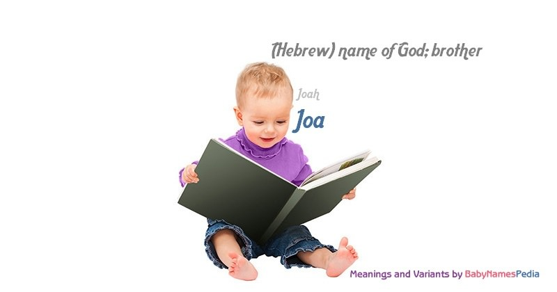 Meaning of the name Joa