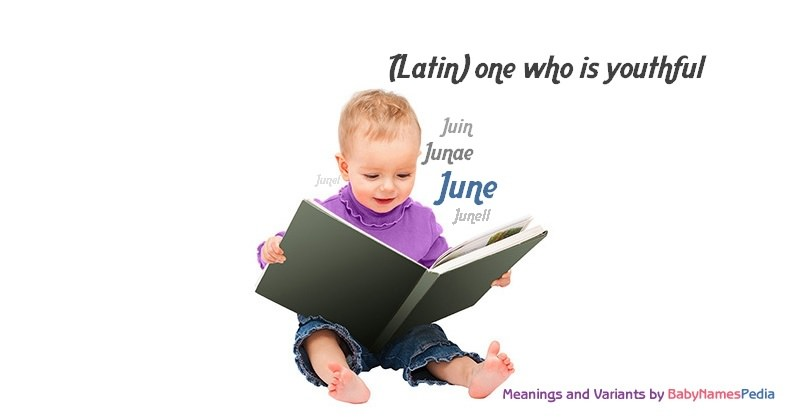 Meaning of the name June