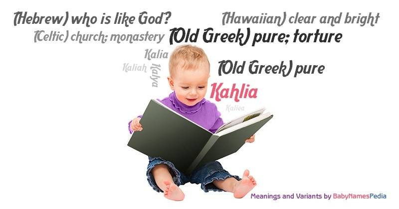 Meaning of the name Kahlia
