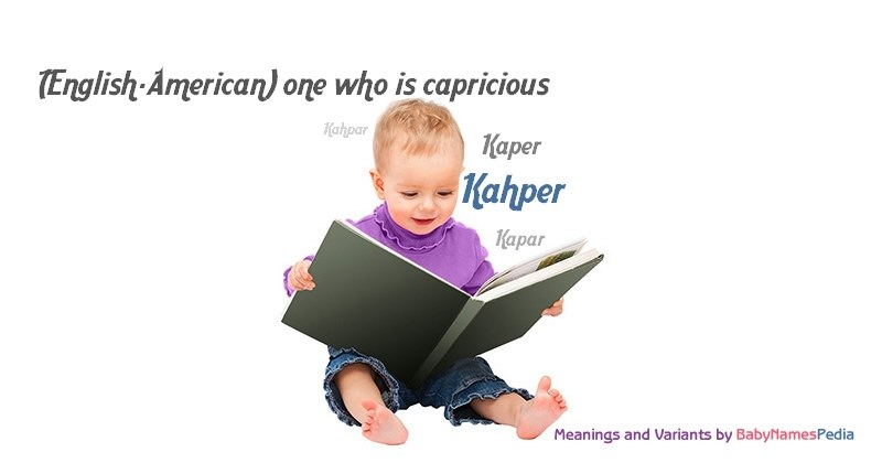 Meaning of the name Kahper