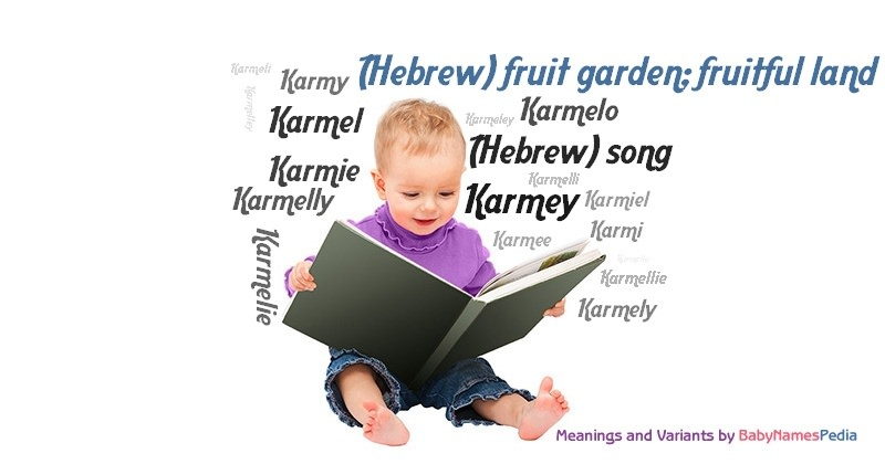 Meaning of the name (Hebrew) fruit garden; fruitful land