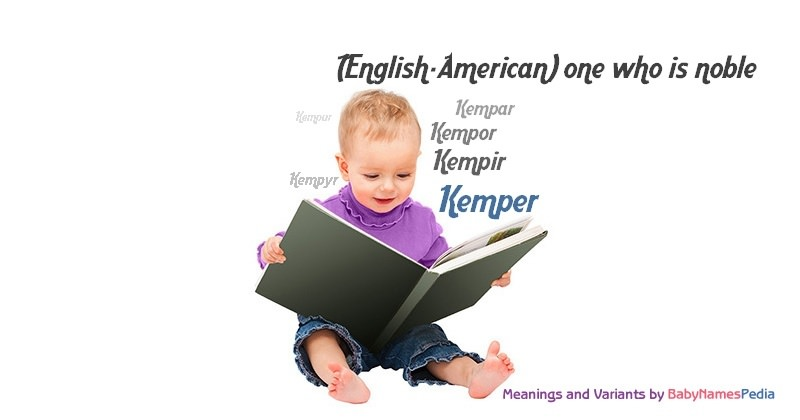 Meaning of the name Kemper