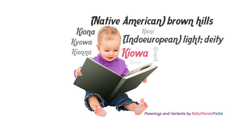 Meaning of the name Kiowa