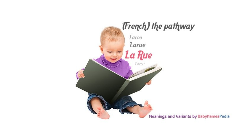Meaning of the name La Rue