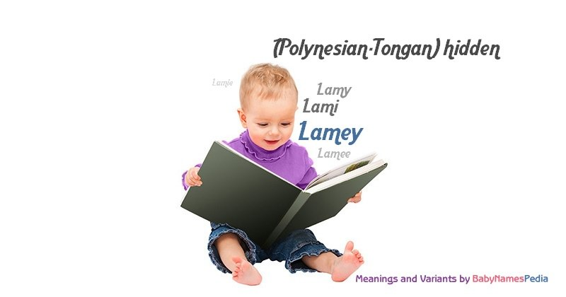 Meaning of the name Lamey