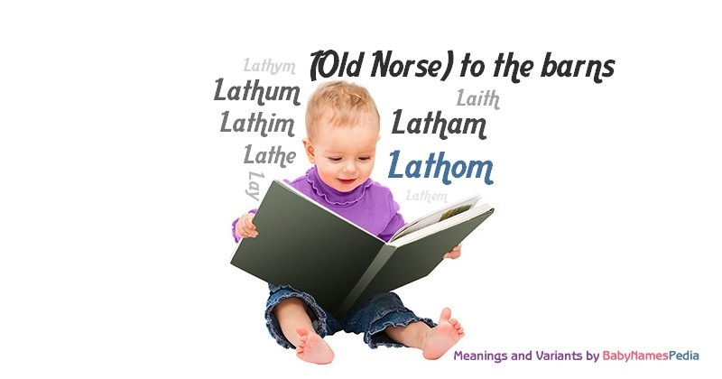 Meaning of the name Lathom