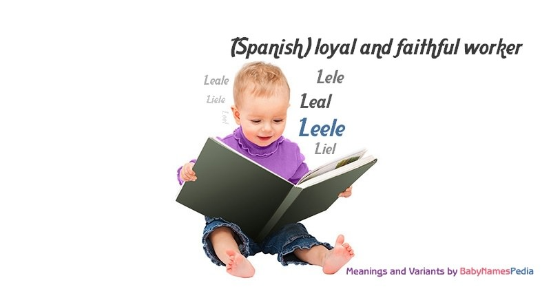 Meaning of the name Leele