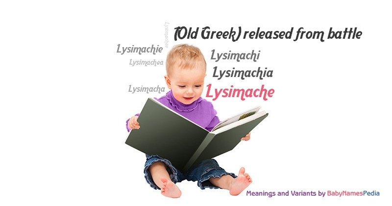 Meaning of the name Lysimache
