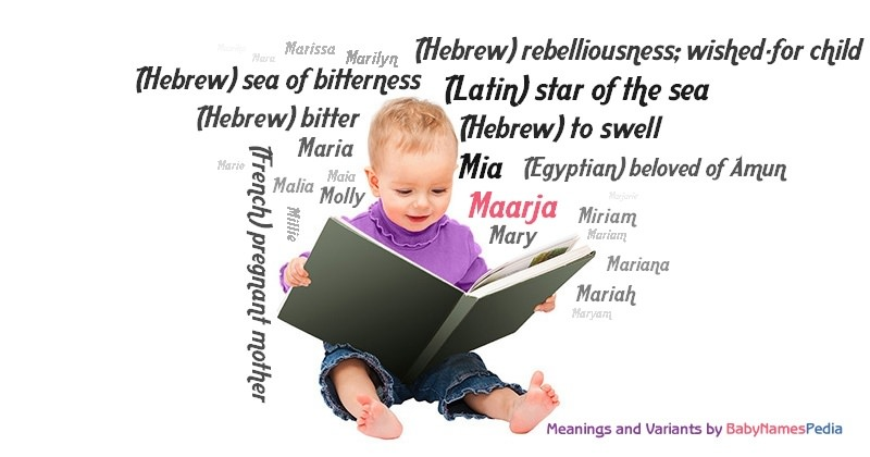 Meaning of the name Maarja