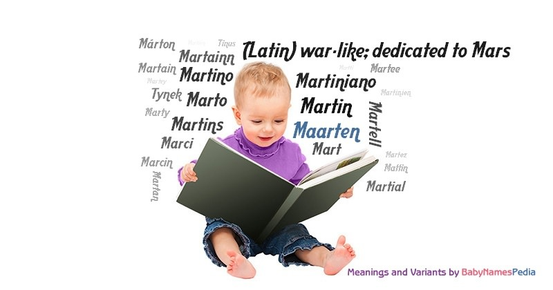Meaning of the name Maarten